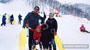 snow play ground at Fuji Mount