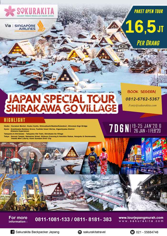 Japan-Spesial-Tour-Shirakawa-Go-Village-19-25-Jan-&-26Jan---1Feb-2020