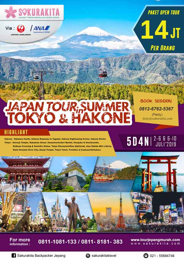 Japan-Tour-Summer-In-Tokyo&Hakone-5d4n-2-6-&-6-10-Juli-2019