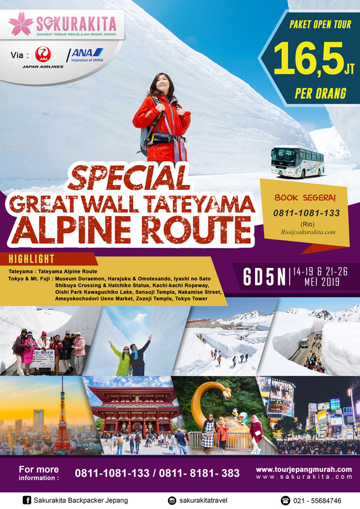 [brosure]Special Great Wall Tateyama Alpine Route 14-19 & 21-26 Mei 2019